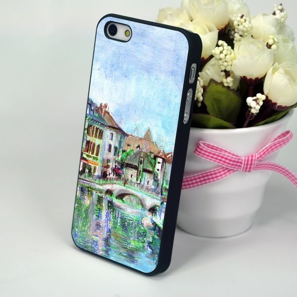 "Чехол  для iPhone 4, 4S ""River Town"""