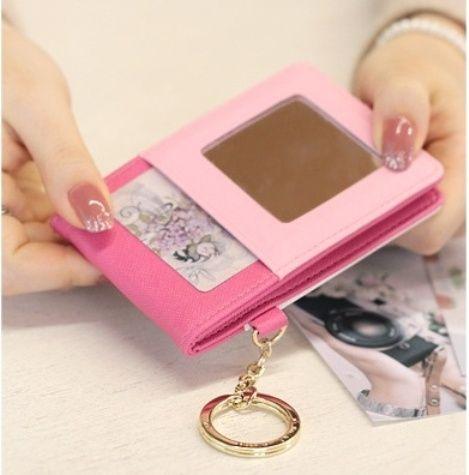"""Кардхолдер с зеркалом """"Twinkle Mirror Card"""" - Rose"""
