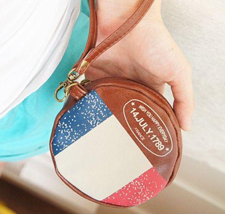 """Кошелек для мелочи """"Round Flag"""" - France"""