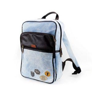 """Джинсовый рюкзак """"Western Badge"""" - Light Blue"""