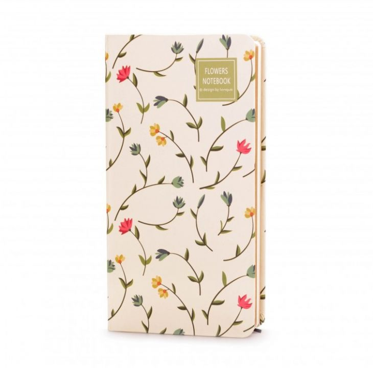 Блокнот «Flowers Notebook» - White