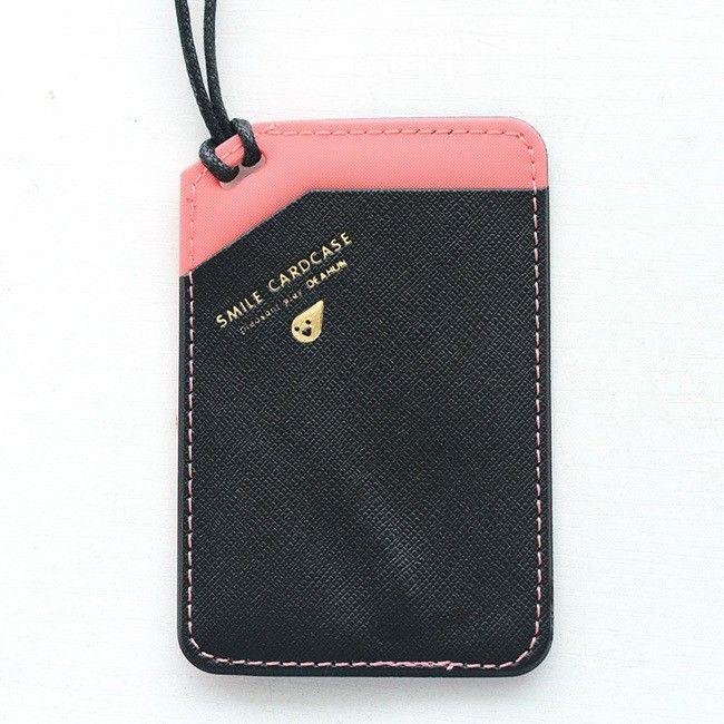 Чехол для карточки на шнурке «Smile Cardcase» Черный