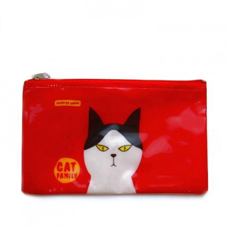 Пенал Mesh «Cat Family» - Red