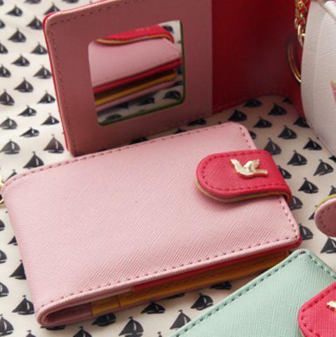 """Кардхолдер с зеркалом """"Twinkle Mirror Card"""" - Pink"""