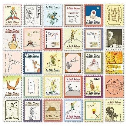 "Набор наклеек ""Stamp Sticker"" - Le Petit Prince"
