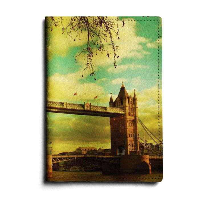"""Кожаная обложка для автодокументов """"Tower Bridge"""""""