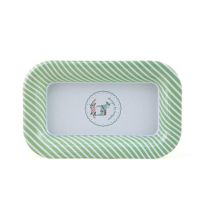Металлическая тарелка «Pony» - Mint-Green