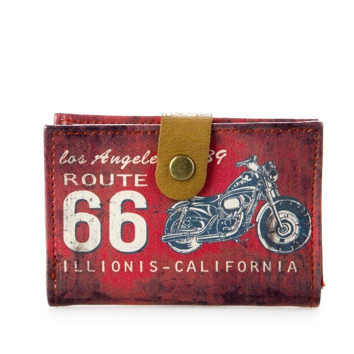 Визитница «Historic Route 66» - Red