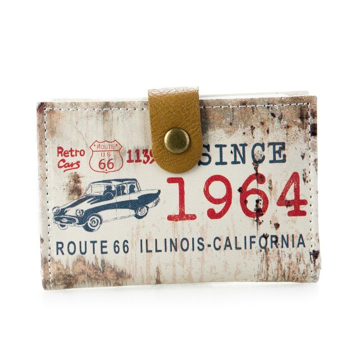 Визитница «Historic Route 66» - White