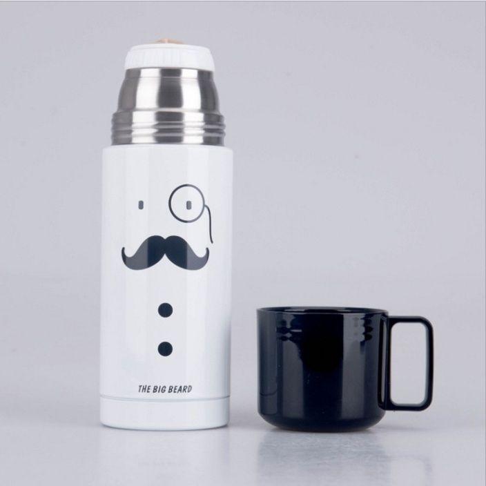 Термос с чашкой «Gentleman» - Белый